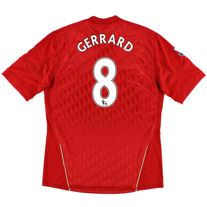 2010-12 Liverpool Home Shirt Gerrard #8 *Mint* L - P96763