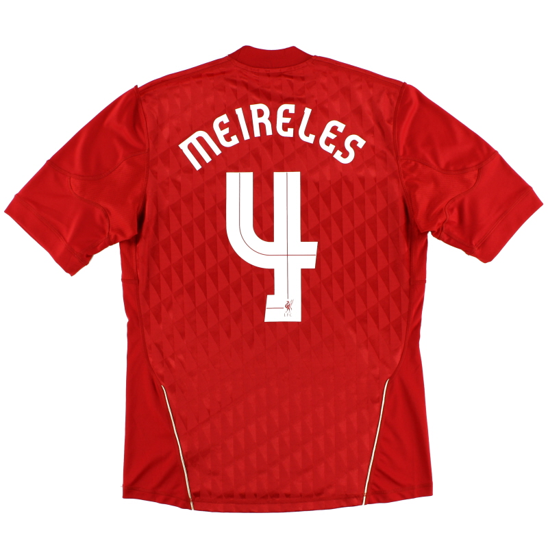 2010-12 Liverpool Home Shirt Meireles #4 M