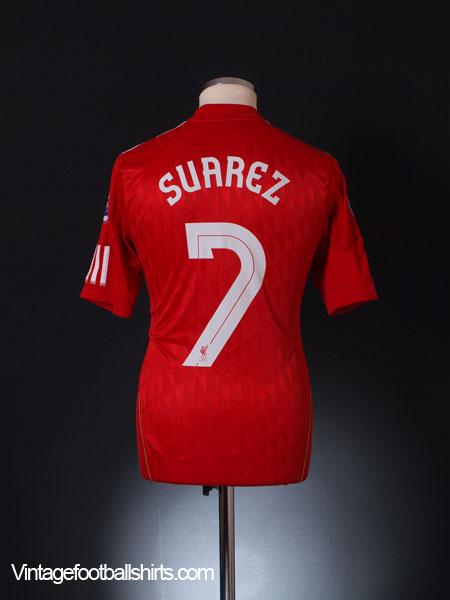 2010-12 Liverpool Home Shirt Suarez #7 S