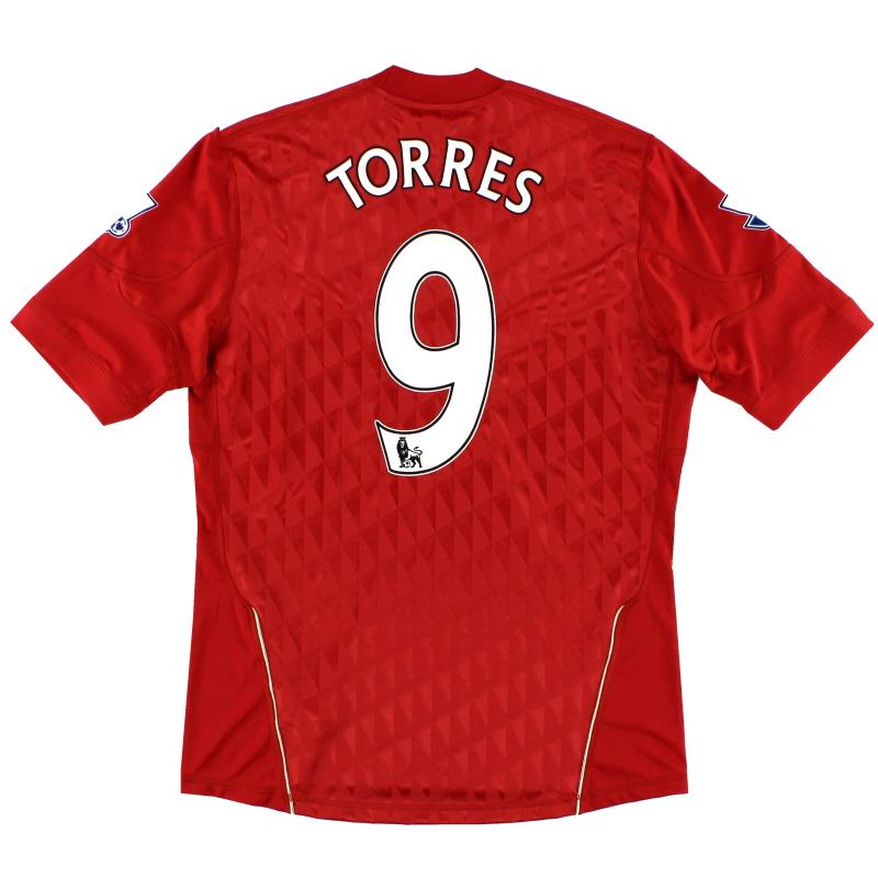 2010-12 Liverpool Home Shirt Torres #9 M - P96763
