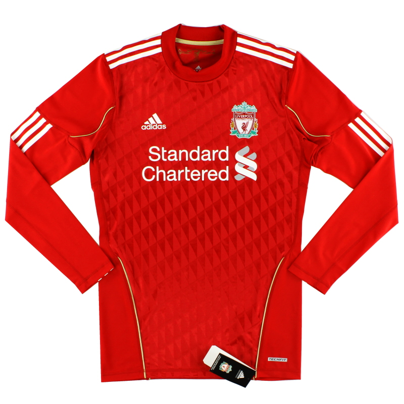 2010-12 Liverpool Techfit Player Issue Home Shirt L/S *BNIB* L - P96686