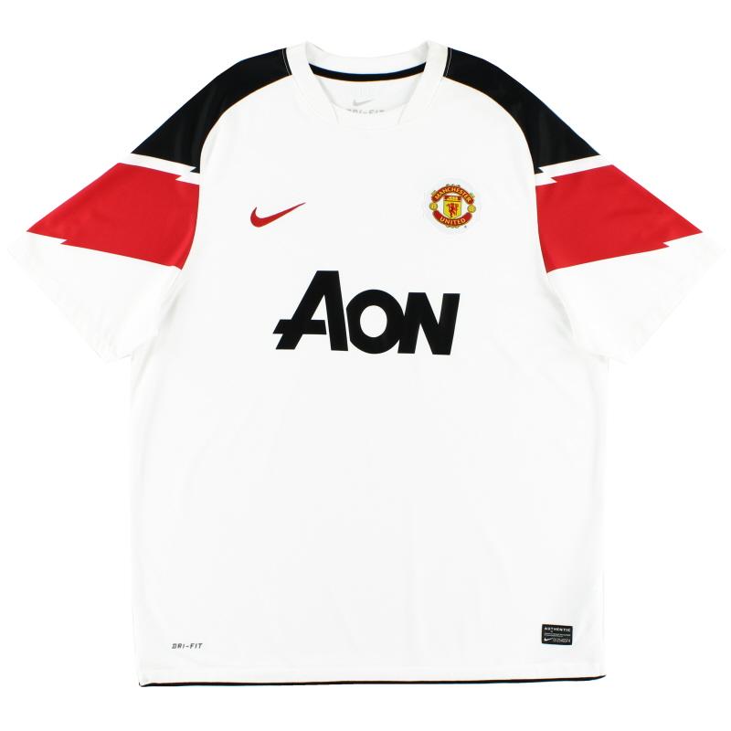 2010-12 Manchester United Away Shirt S.Boys