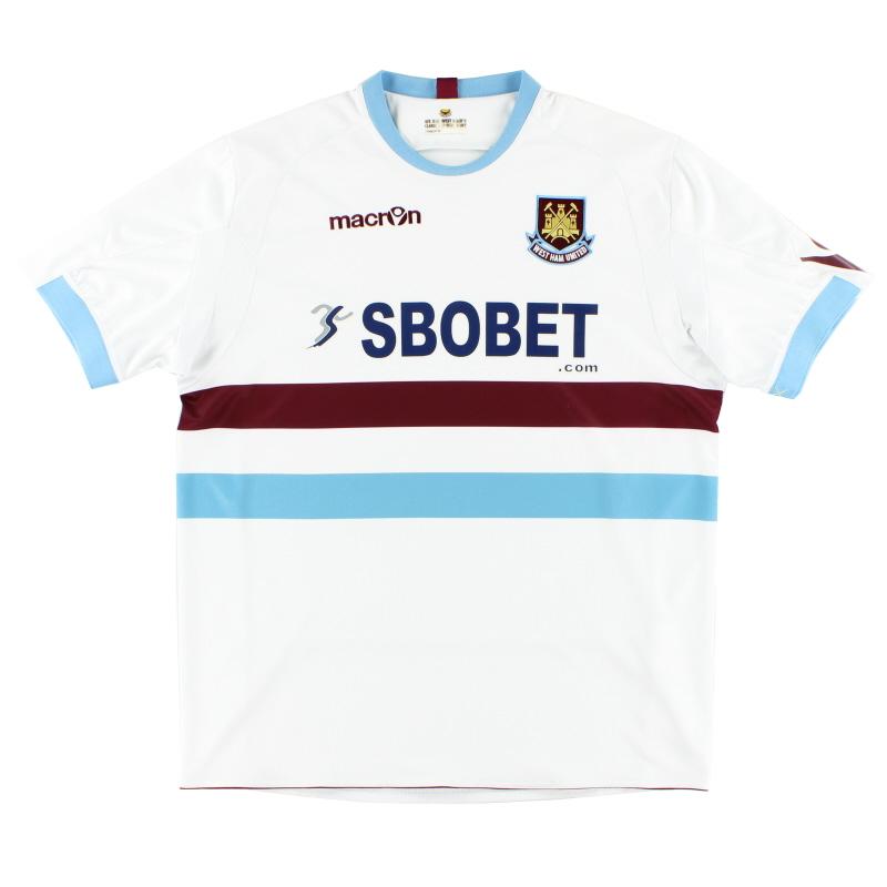2010-12 West Ham Away Shirt L