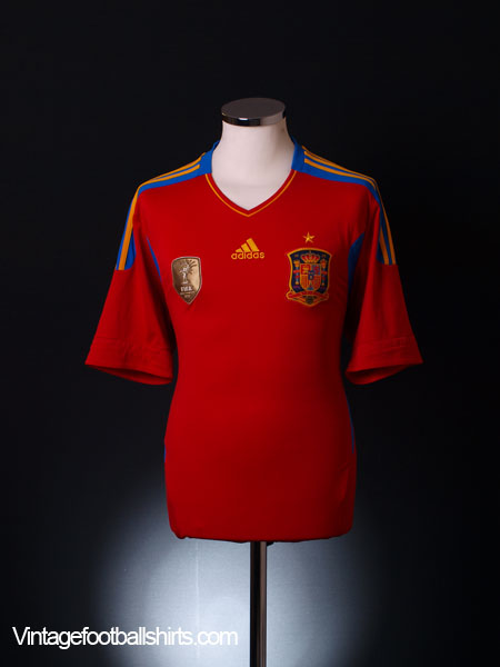 2010 Spain Home Shirt XL