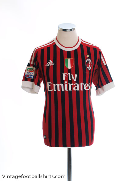 2011-12 AC Milan Home Shirt S - V13457