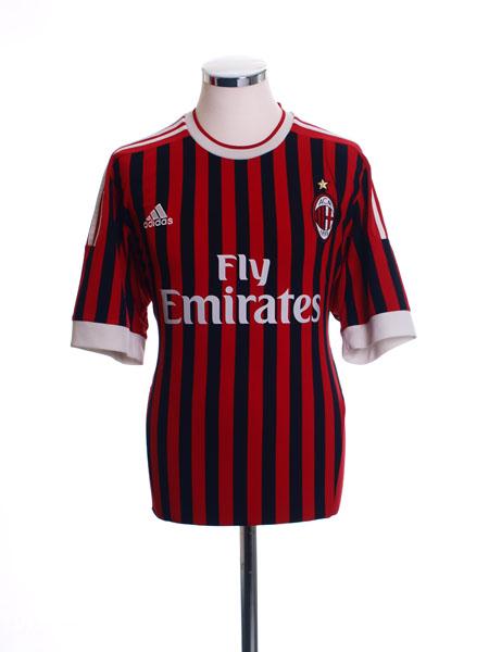 2011-12 AC Milan Home Shirt L - V13457