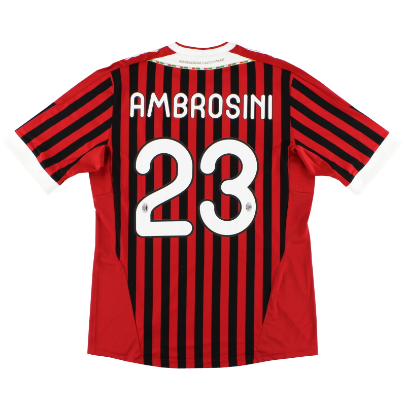 2011-12 AC Milan Match Issue Home Shirt Ambrosini #23