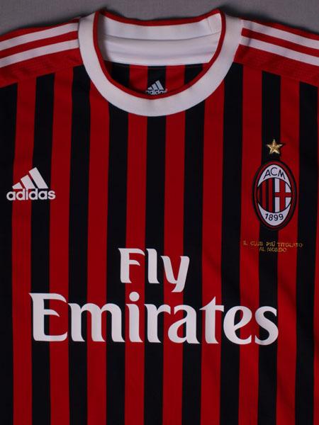 reputable site 61be3 9e47f 2011-12 AC Milan Match Issue Home Shirt Ambrosini  23