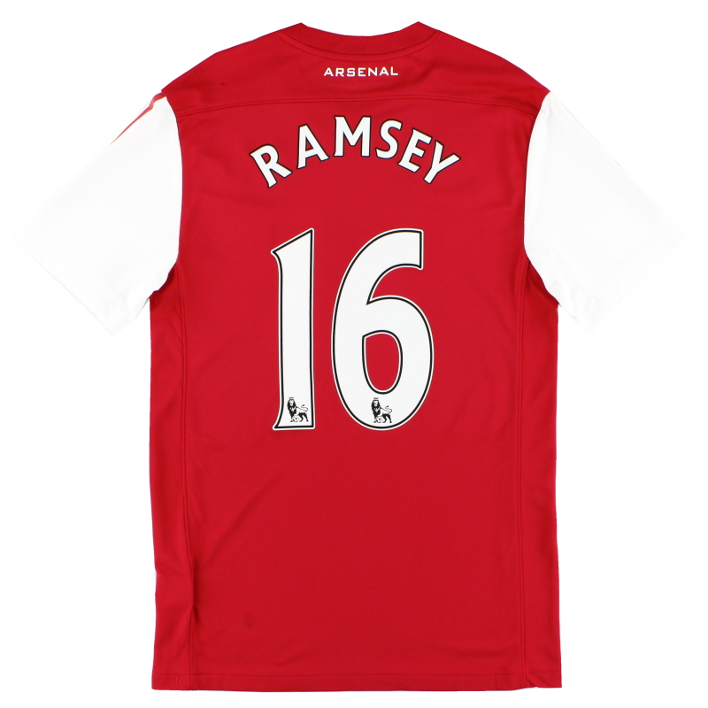 2011-12 Arsenal '125th Anniversary' Home Shirt Ramsey #16 S