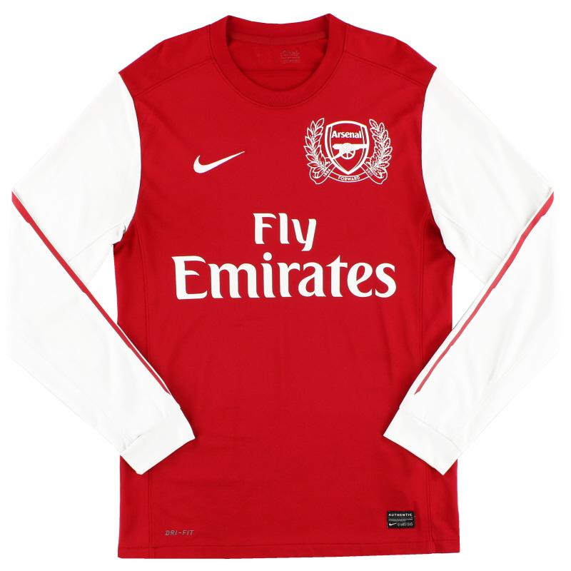 2011-12 Arsenal '125th Anniversary' Home Shirt L/S S - 423981-620