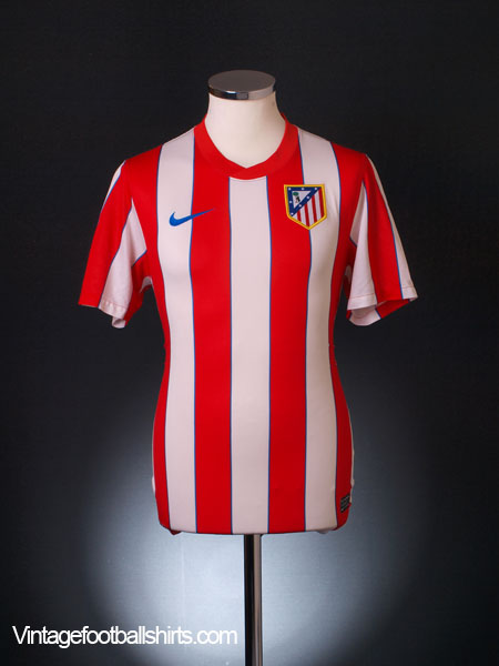 2011-12 Atletico Madrid Home Shirt S