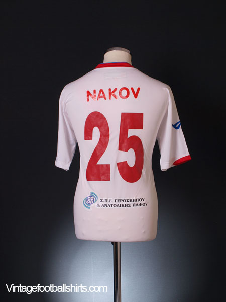 2011-12 Atromitos Yeroskipou Match Issue Away Shirt Nakov #25 XL