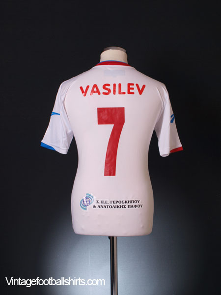 2011-12 Atromitos Yeroskipou Match Issue Away Shirt Vasilev #7 L