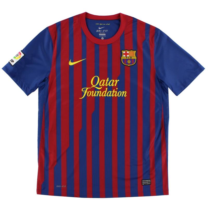 2011-12 Barcelona Nike Home Shirt *Mint* L - 419877-486
