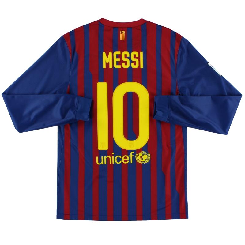 2011-12 Barcelona Home Shirt Messi #10 L/S S