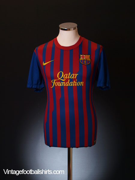 2011-12 Barcelona Home Shirt *Mint* L