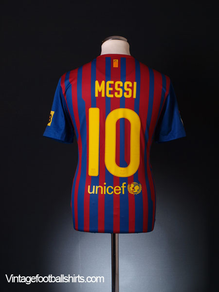 2011-12 Barcelona Home Shirt Messi #10 XL