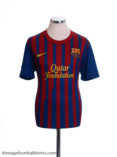 2011-12 Barcelona Home Shirt M - 419877-486
