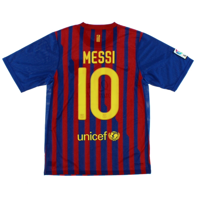 2011-12 Barcelona Home Shirt Messi #10 L.Boys - 419877-486