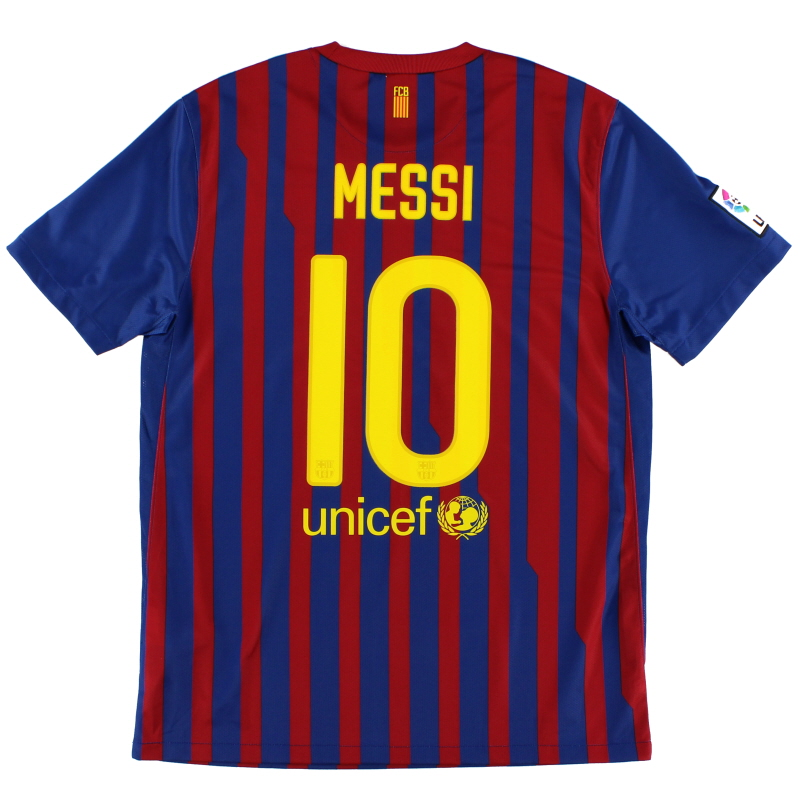 2011-12 Barcelona Home Shirt Messi #10 *As New* M - 419877-486