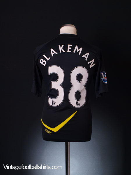 2011-12 Bolton Player Issue Away Shirt Blakeman #38 *As New* M