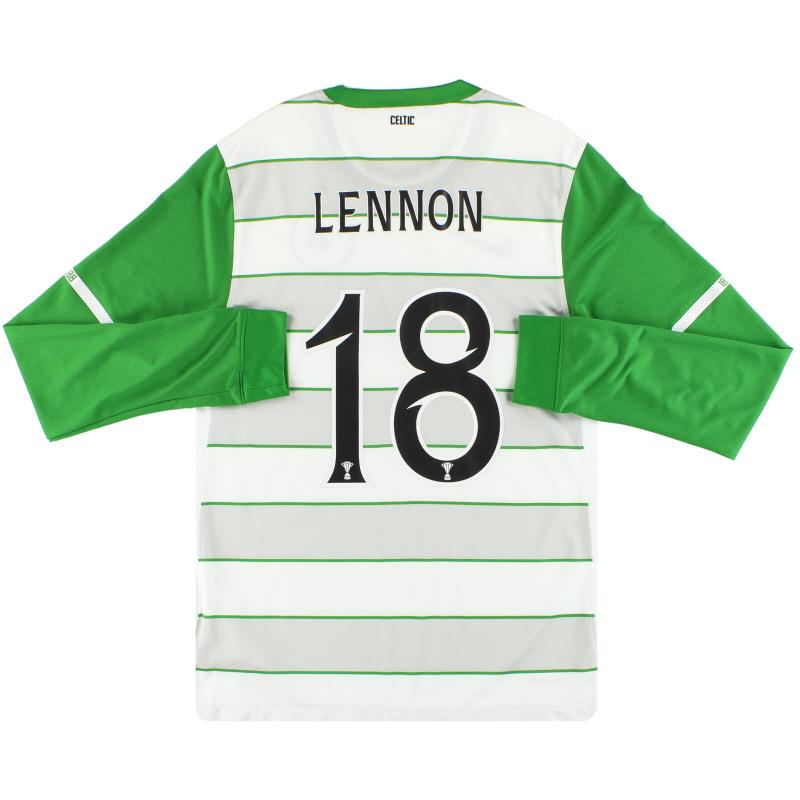 2011-12 Celtic Nike Away Shirt Lennon #18 L/S S - 419979-105