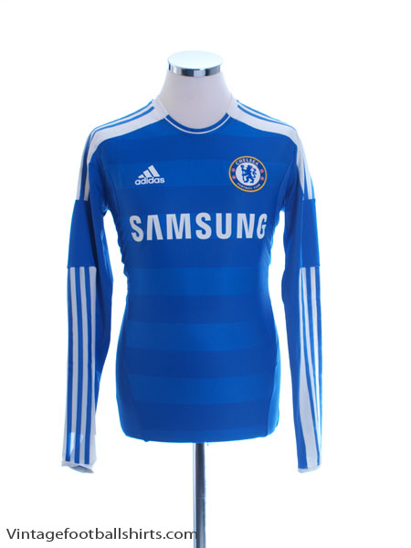 2011-12 Chelsea TechFit Player Issue Home Shirt L/S M/L - V13923