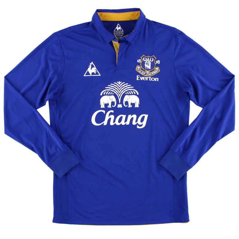2011-12 Everton Home Shirt L/S S