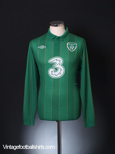 2011-12 Ireland Home Shirt L/S M