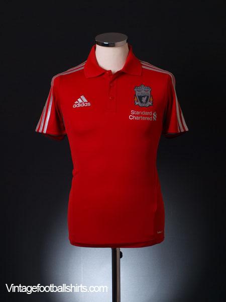 2011-12 Liverpool adidas Polo Shirt S