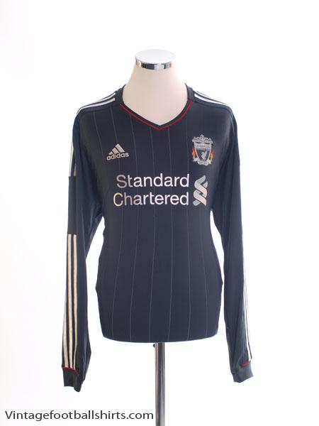 2011-12 Liverpool Away Shirt L/S *Mint* L