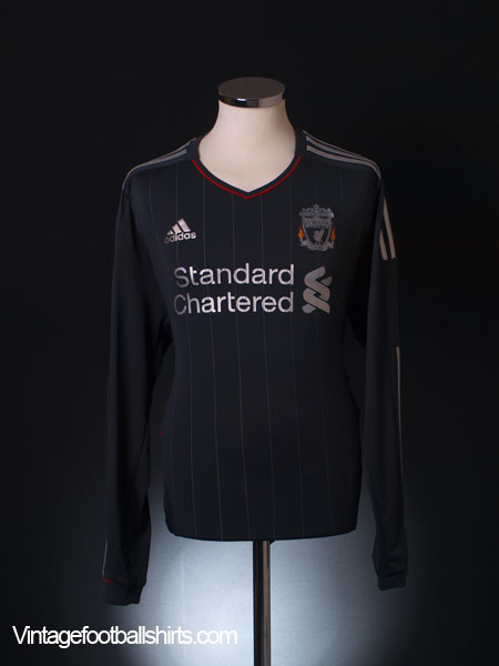 2011-12 Liverpool Away Shirt L/S L