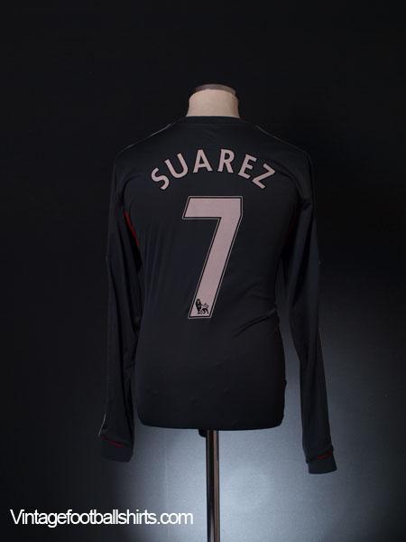 2011-12 Liverpool Away Shirt Suarez #7 L/S L