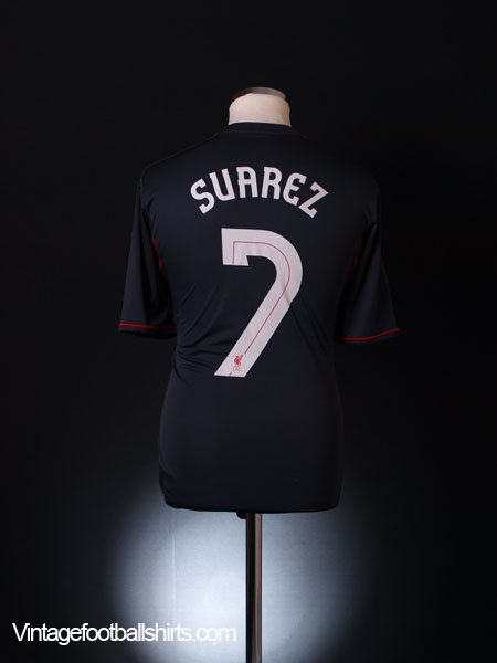 2011-12 Liverpool Away Shirt Suarez #7 M