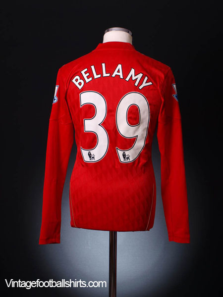 2011-12 Liverpool Match Issue Home Shirt Bellamy #39 L/S L