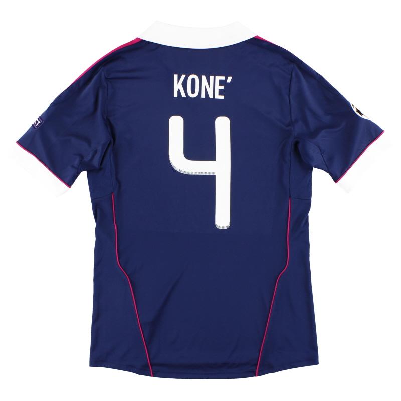 2011-12 Lyon adidas CL Away Shirt Kone #4 *Mint* M - V13362