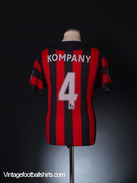 2011-12 Manchester City Away Shirt Kompany #4 XL