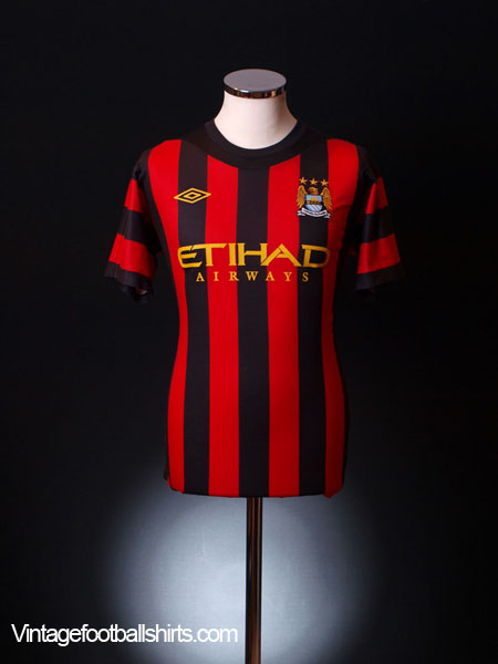 2011-12 Manchester City Away Shirt L.Boys
