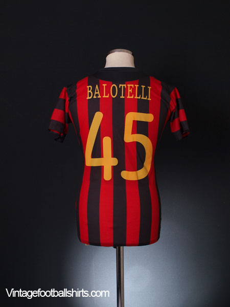 2011-12 Manchester City Champions League Away Shirt Balotelli #45 *BNWT* 12