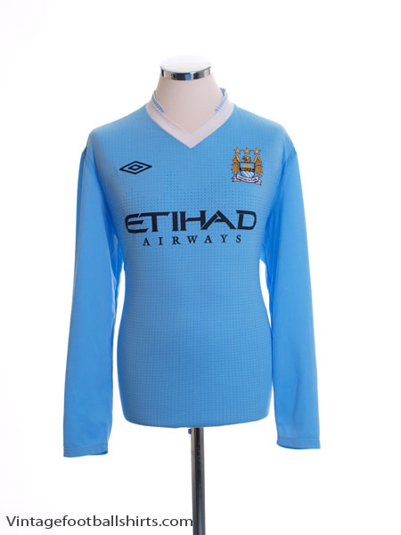 2011-12 Manchester City Home Shirt L/S L