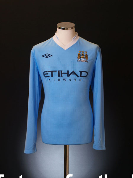 2011-12 Manchester City Home Shirt *BNWT* L/S L