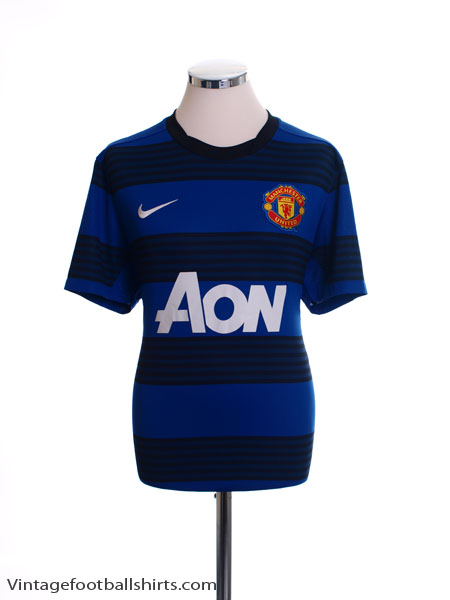 2011-12 Manchester United Away Shirt Womens M - 423957-403