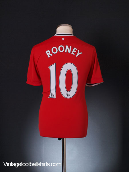 2011-12 Manchester United Home Shirt Rooney #10 M