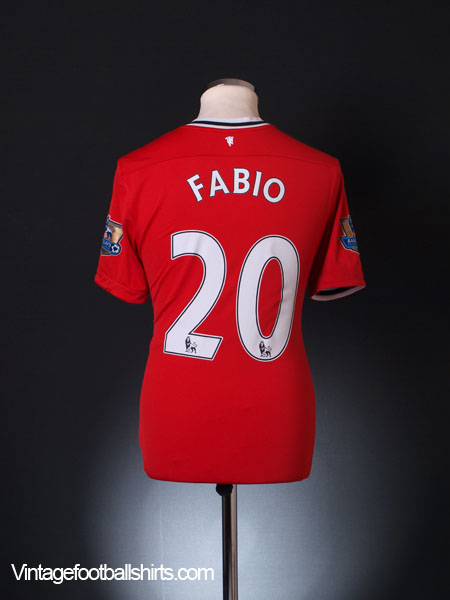 2011-12 Manchester United Home Shirt Fabio #20 M