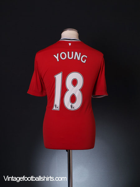 2011-12 Manchester United Home Shirt Young #18 L