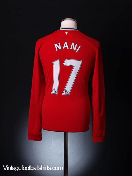 2011-12 Manchester United Home Shirt Nani #17 L/S M