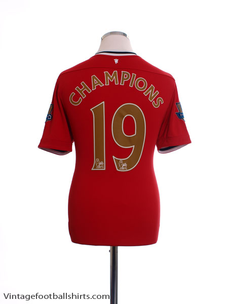 2011-12 Manchester United Home Shirt Champions #19 XL