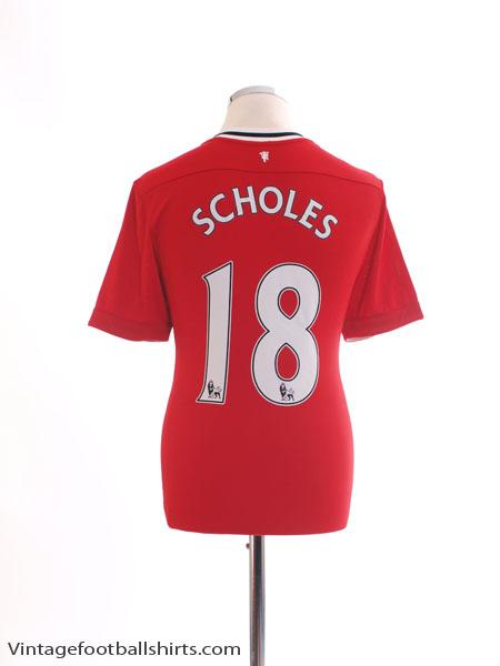 2011-12 Manchester United Home Shirt Scholes #18 M