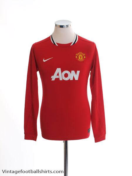 2011-12 Manchester United Home Shirt L/S XL.Boys
