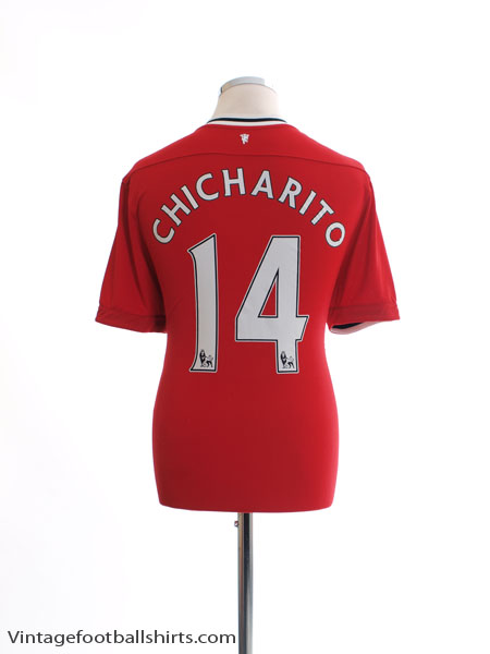 2011-12 Manchester United Home Shirt Chicharito #14 L